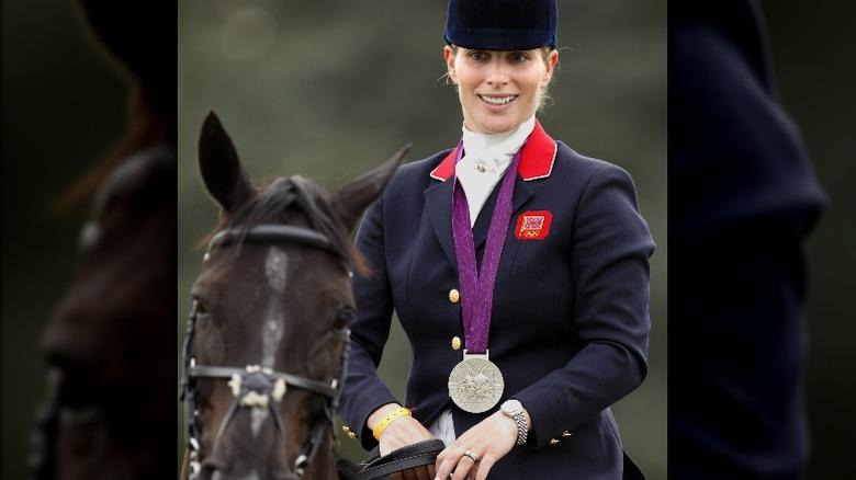 Zara Tindall på hest