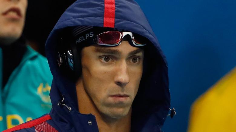 Michael Phelps med hette oppe