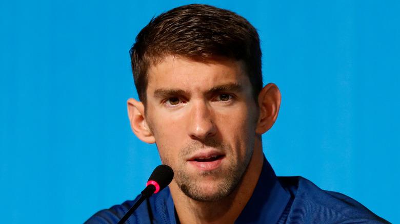Michael Phelps på en pressekonferanse