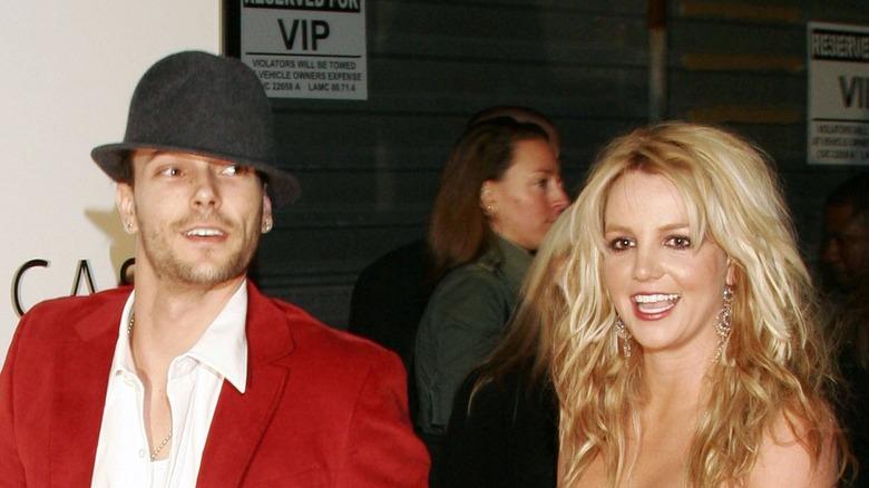 Kevin Federline og Britney Spears på den røde løperen