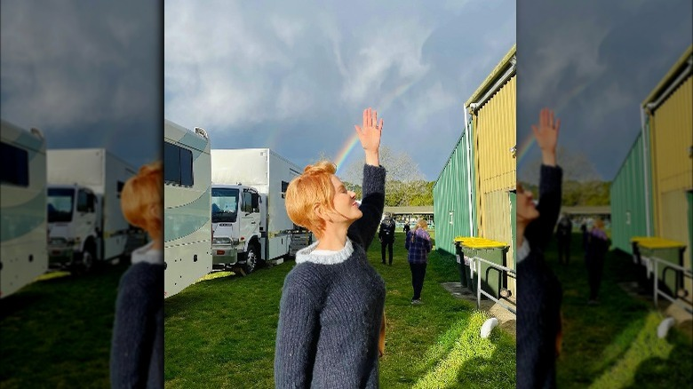 Nicole Kidman på settet til Roar