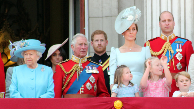 Prins Harry med den kongelige familien