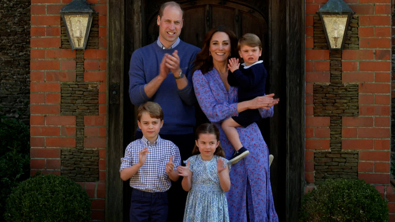 Prins William, Kate Middleton, George, Charlotte, Louis