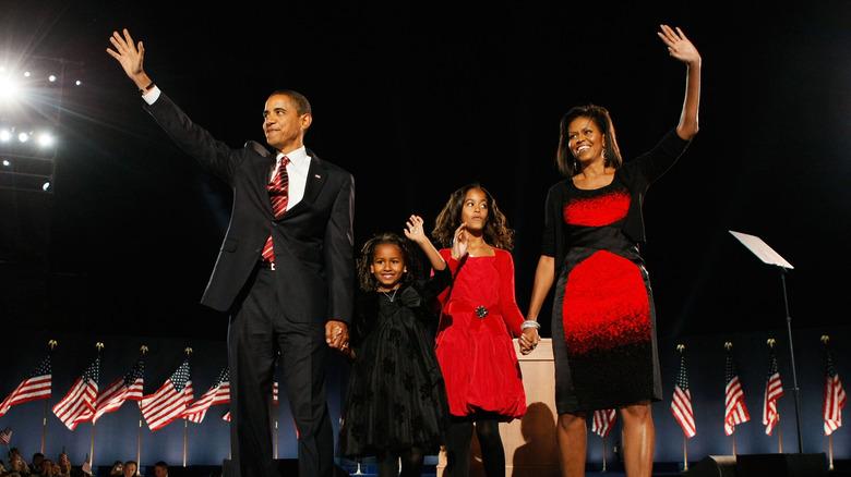 Obamas på valgdagen 2008