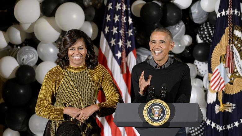 Michelle og Barack Obama i Det hvite hus