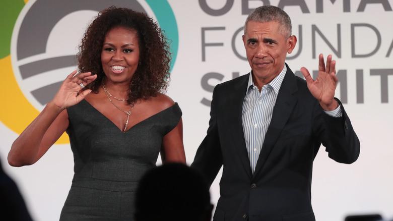 Michelle og Barack Obama på Obama Foundation Summit