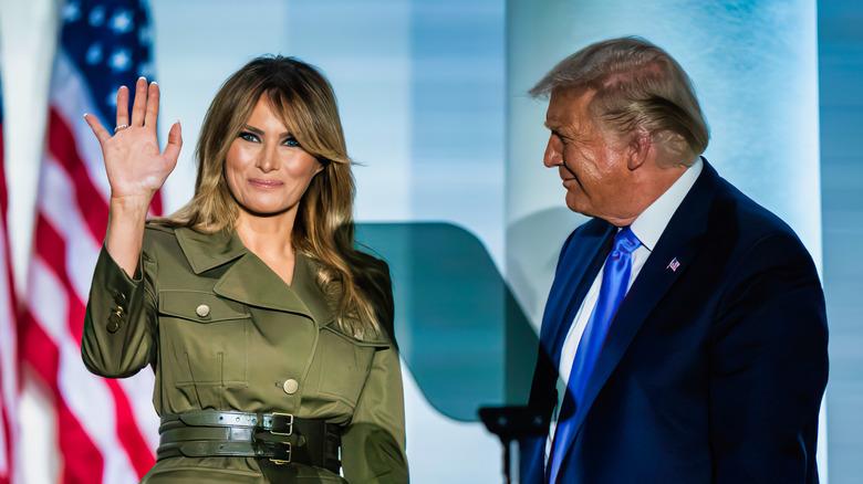 Melania Trump og Donald Trump i 2019