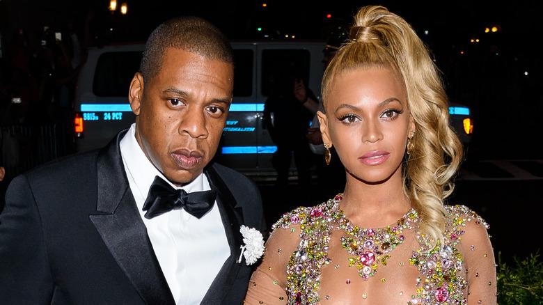 Jay-Z og Beyoncé på den røde løperen