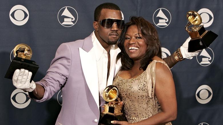 Kanye og Donda West på et arrangement
