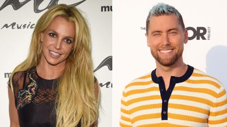 Side ved side Britney Spears og Lance Bass