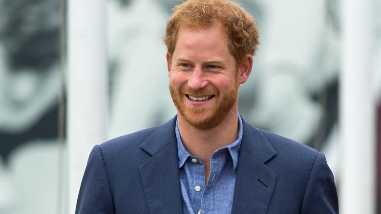 Prins Harry blå dressjakke