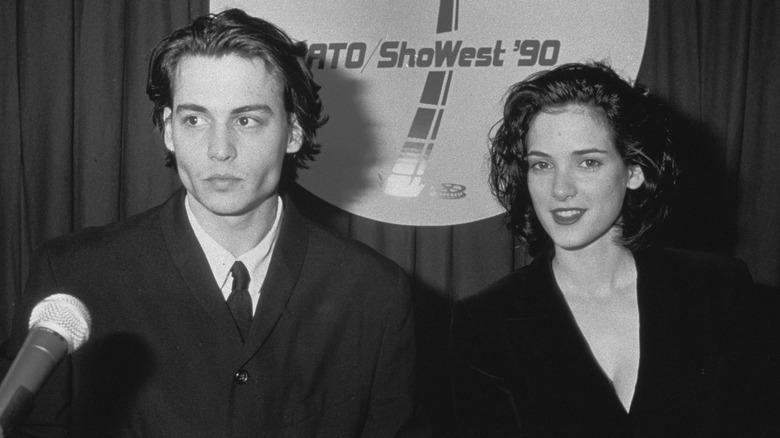 Johnny Depp og Winona Ryder sammen