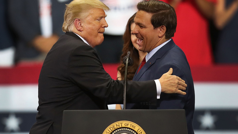Donald Trump og Ron DeSantis