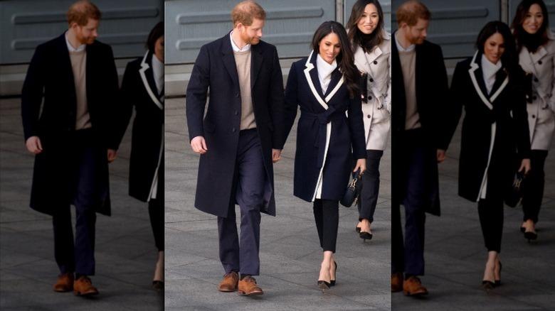 Meghan Markle og prins Harry holder hender