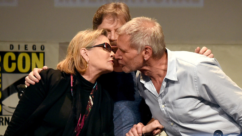 Carrie Fisher, Harrison Ford, kysser