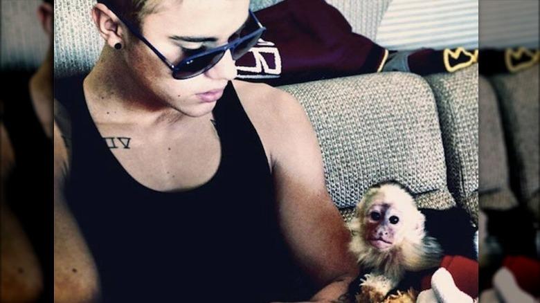 Justin Bieber med ape