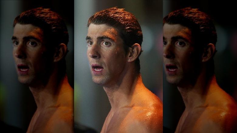 Michael Phelps etter et løp