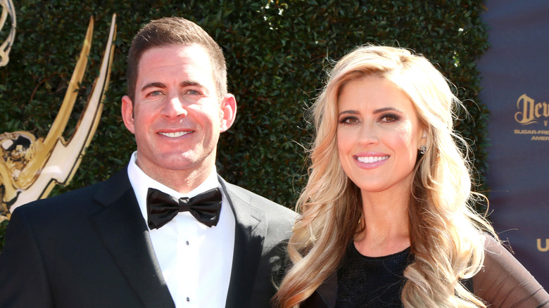 Christina Haack og Tarek El Moussa smiler