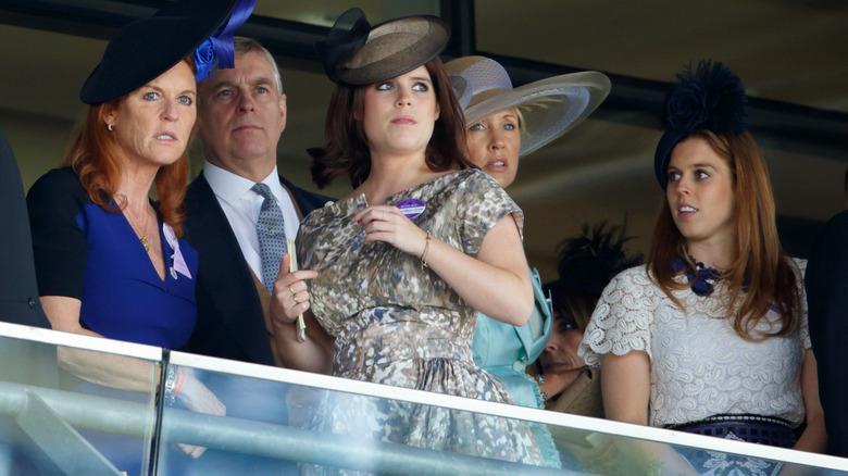 Sarah Fergie Ferguson, prins Andrew, prinsesse Eugenie, prinsesse Beatrice