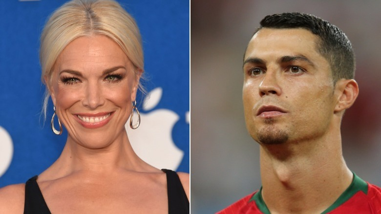 Hannah Waddingham Cristiano Ronaldo delte bildet