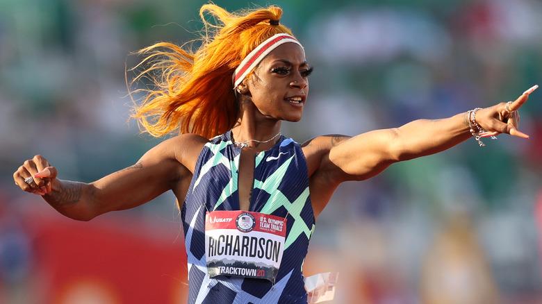 Sha'Carri Richardson racing