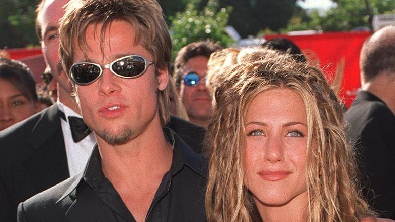 Brad Pitt og Jennifer Aniston på Emmys i 1999