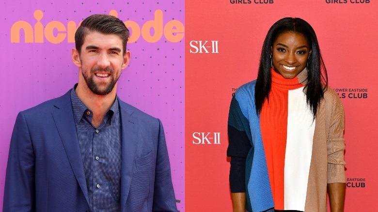 Michael Phelps og Simone Biles