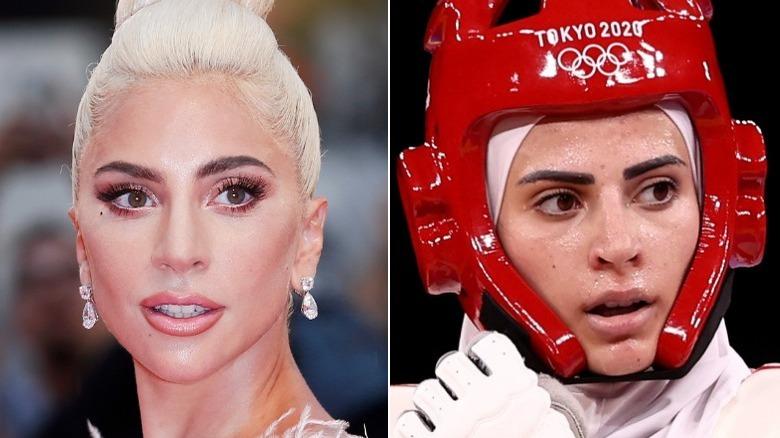 Lady Gaga og Julyana Al-Sadeq side om side