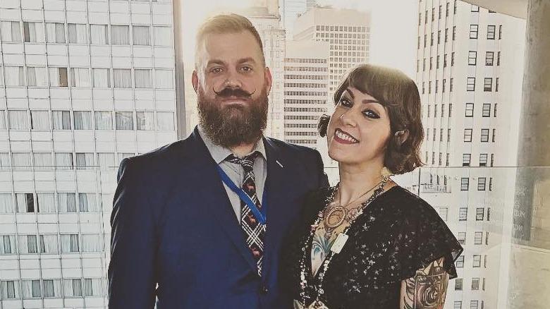 Amerikanske Pickers-stjerne Danielle Colby og forloveden Jeremy Scheuch på et bilde fra Instagram