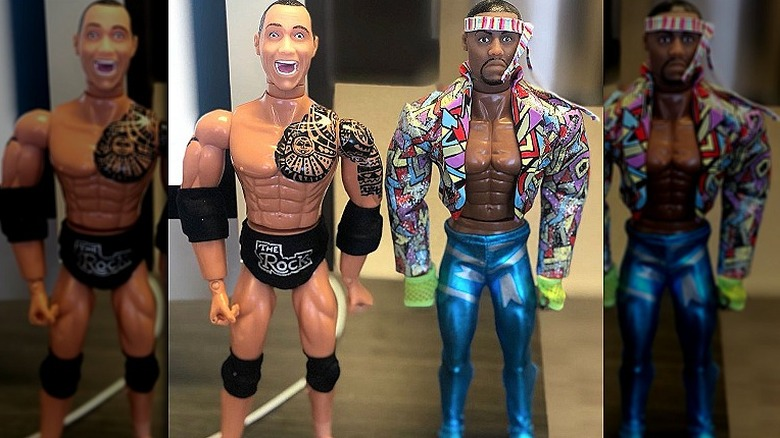 The Rock og Kevin Hart actionfigurer