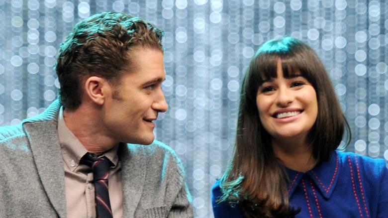 Matthew Morrison, Lea Michele smiler