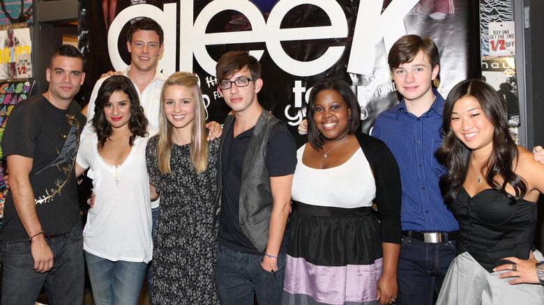 Lea Michele og Glee rollebesetning