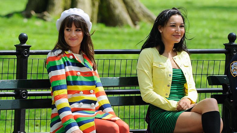 Lea Michele, Naya Rivera smiler