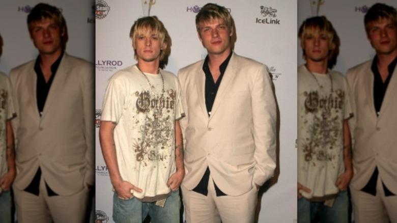 Aaron Carter og Nick Carter i 2006