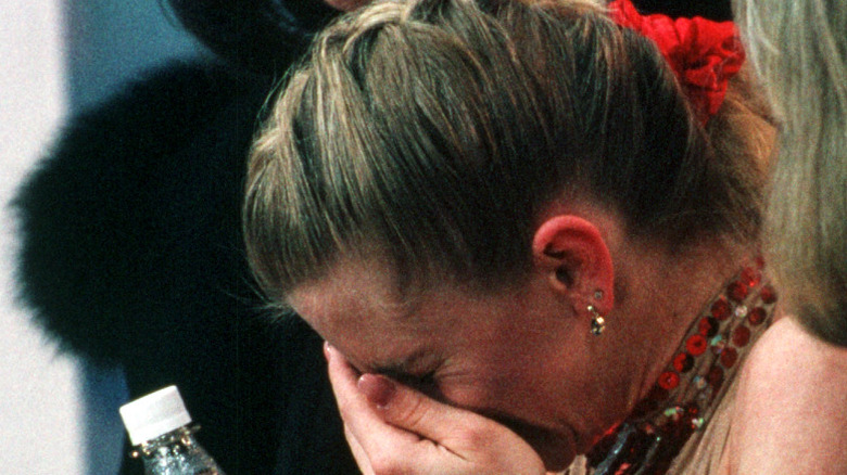 Tonya Harding gråter i hånden