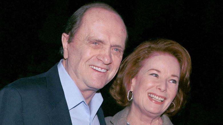 Bob Newhart og Ginnie Newhart smiler