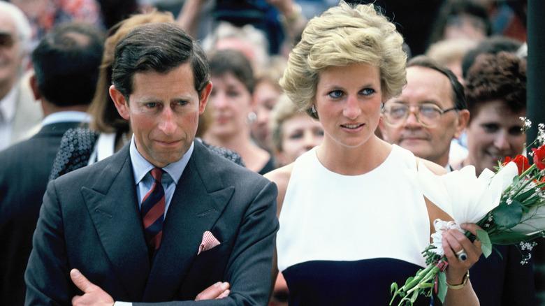 Prins Charles og prinsesse Diana, prins og prinsesse av Wales, under deres offisielle besøk i Ungarn i 1990