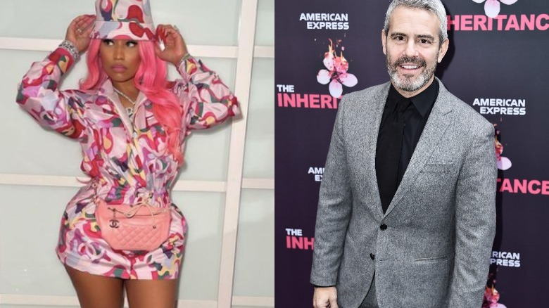 Nicki Minaj og Andy Cohen