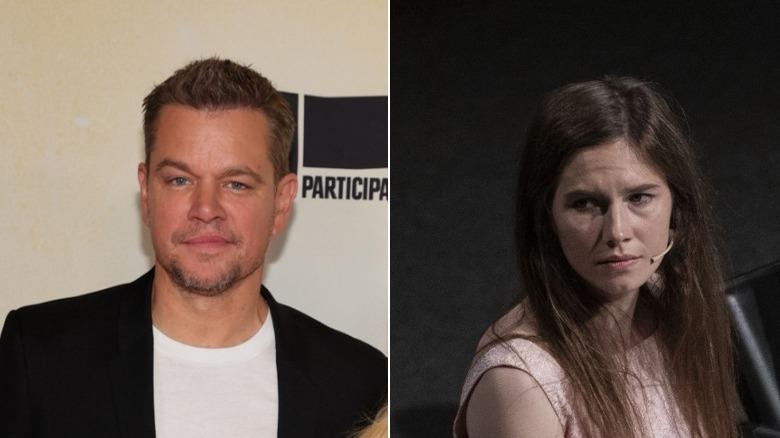 Matt Damon og Amanda Knox side om side