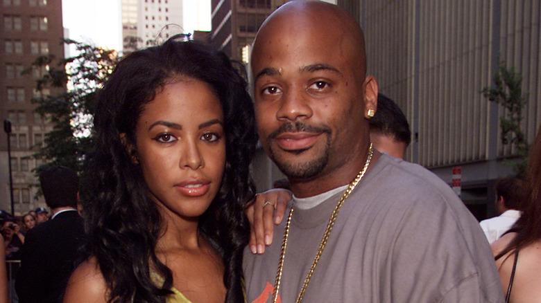 Aaliyah og Damon Dash ankommer verdenspremieren på 20th Century Fox -filmen 'Planet of the Apes'