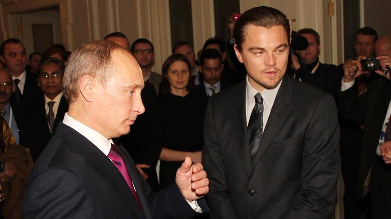 Vladimir Putin og Leonardo DiCaprio i 2010