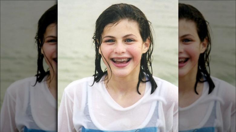 Alexandra Daddario i havet som barn
