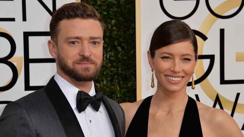Justin Timberlake og Jessica Biel på Golden Globes