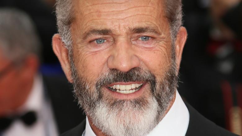 Mel Gibson på Cannes Film Festival i smoking 2016