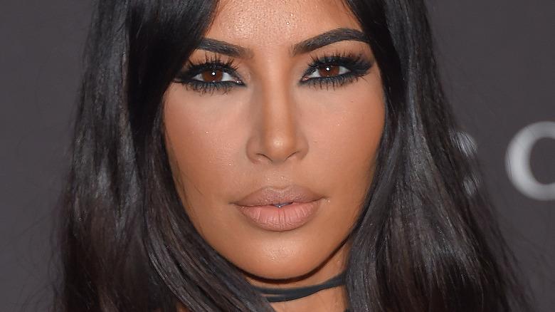 Kim Kardashian med naken leppestift