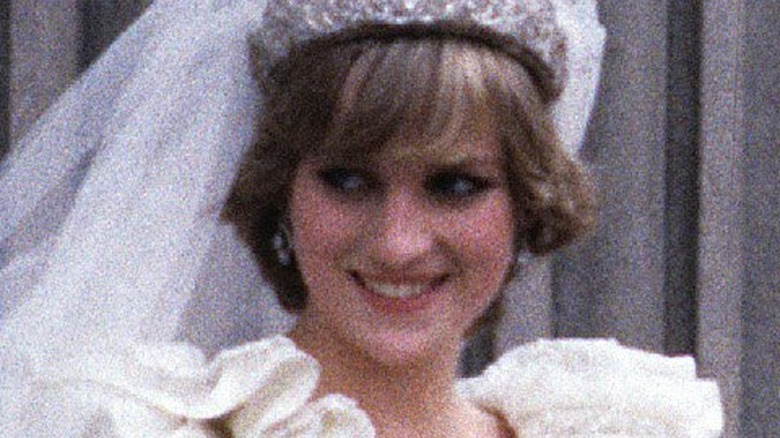 Prinsesse Diana på bryllupsdagen