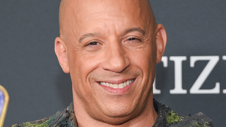 """Smiling Vin Diesel ankommer """"Avengers: End Game"""" 2019"""