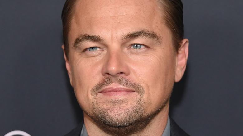 Leonardo DiCaprio smiler på rød løper