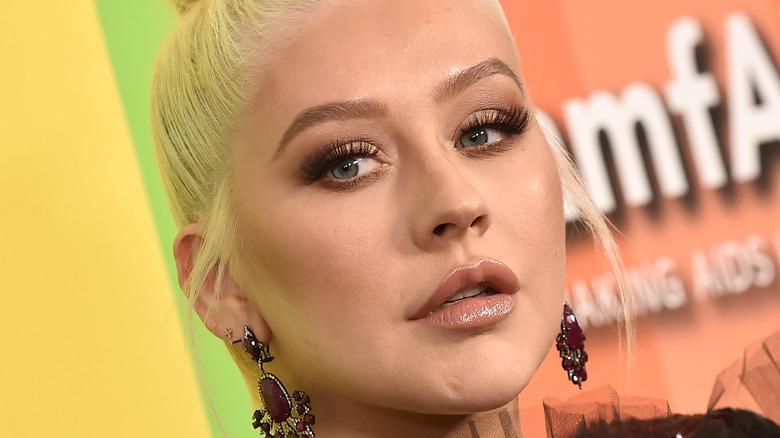 Christina Aguilera poserer