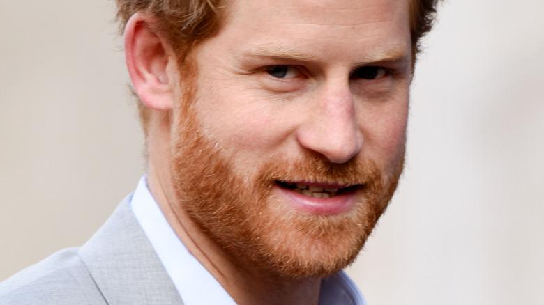 Prins Harry poserer